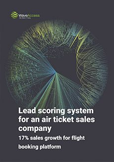 Lead scoring system for an air ticket sales company cover