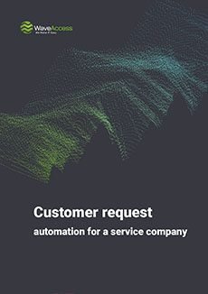 Customer request automation for a service company cover