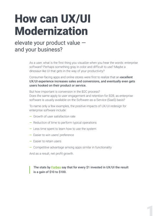How a UX modernization helps