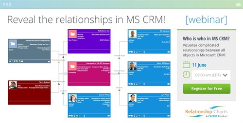 webinar, Relationship Charts, MS CRM, charts, build connections